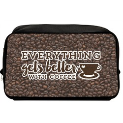 Coffee Addict Toiletry Bag / Dopp Kit (Personalized)