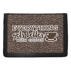 Coffee Addict Trifold Wallet (Personalized)