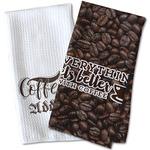 Coffee Addict Waffle Weave Kitchen Towel