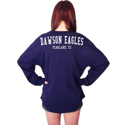 Dawson Eagles Spirit Shirt Navy Spirit Jersey (Personalized)