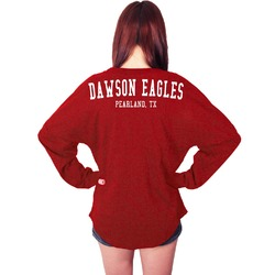 Dawson Eagles Spirit Shirt Red Spirit Jersey (Personalized)