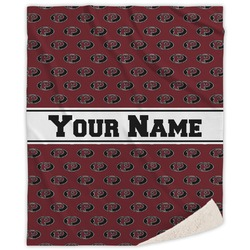 Pearland Oilers Sherpa Throw Blanket (Personalized)
