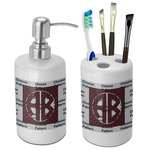 Pearland Oilers Bathroom Accessories Set (Ceramic) (Personalized)