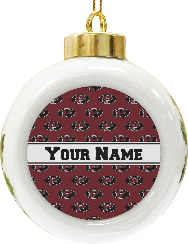 Pearland Oilers Ceramic Ball Ornament (Personalized)