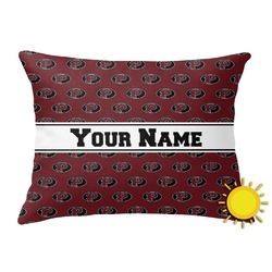 Pearland Oilers Outdoor Throw Pillow (Rectangular) (Personalized)