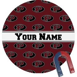 Pearland Oilers Round Magnet (Personalized)