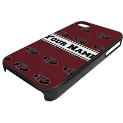 Pearland Oilers Plastic 4/4S iPhone Case (Personalized)