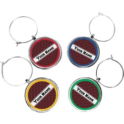 Pearland Oilers Wine Charms (Set of 4) (Personalized)