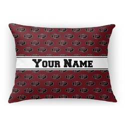 Pearland Oilers Rectangular Throw Pillow (Personalized)