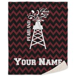 Chevron  Pearland Choir Sherpa Throw Blanket (Personalized)