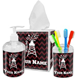 Chevron  Pearland Choir Bathroom Accessories Set (Personalized)