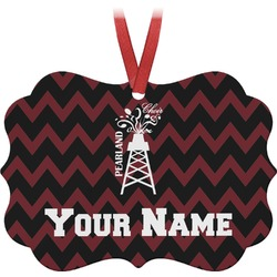 Chevron  Pearland Choir Ornament (Personalized)