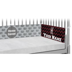 Chevron  Pearland Choir Crib Bumper Pads (Personalized)