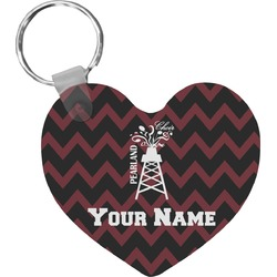 Chevron  Pearland Choir Heart Keychain (Personalized)