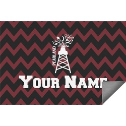 Chevron  Pearland Choir Indoor / Outdoor Rug (Personalized)