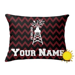 Chevron  Pearland Choir Outdoor Throw Pillow (Rectangular) (Personalized)