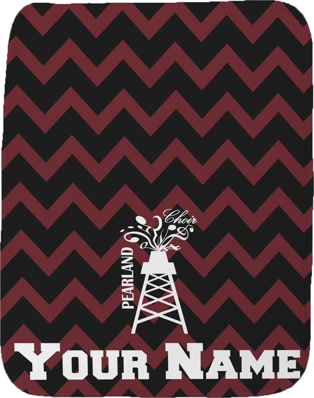 Chevron Pearland Choir Burp Cloth Personalized