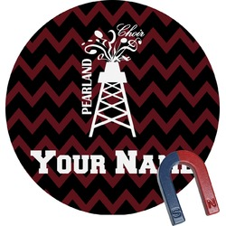 Chevron  Pearland Choir Round Magnet (Personalized)