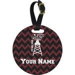 Chevron  Pearland Choir Round Luggage Tag (Personalized)