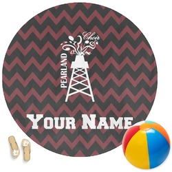 Chevron  Pearland Choir Round Beach Towel (Personalized)