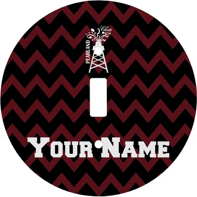 Chevron  Pearland Choir Round Light Switch Cover (Personalized)