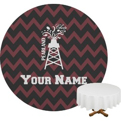 Chevron  Pearland Choir Round Tablecloth (Personalized)