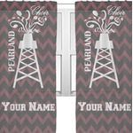 Chevron  Pearland Choir Sheer Curtains (Personalized)