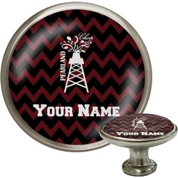 Chevron  Pearland Choir Cabinet Knob (Silver) (Personalized)