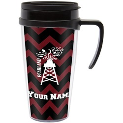 Chevron  Pearland Choir Travel Mug with Handle (Personalized)