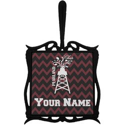 Chevron  Pearland Choir Trivet with Handle (Personalized)