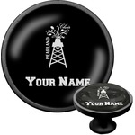Pearland Choir Cabinet Knob (Black) (Personalized)
