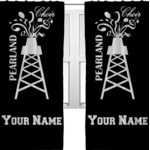 Pearland Choir Curtains (2 Panels Per Set) (Personalized)