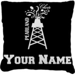 Pearland Choir Burlap Throw Pillow (Personalized)