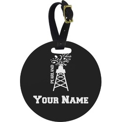 Pearland Choir Round Luggage Tag (Personalized)
