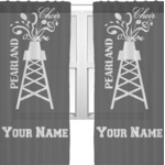 Pearland Choir Sheer Curtains (Personalized)