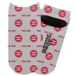 Logo & Tag Line Adult Ankle Socks (Personalized)