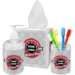 Logo & Tag Line Bathroom Accessories Set (Personalized)