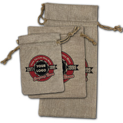 Logo & Tag Line Burlap Gift Bags (Personalized)