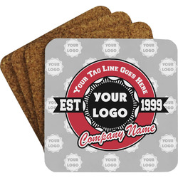 Logo & Tag Line Coaster Set (Personalized)