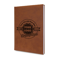 Logo & Tag Line Leatherette Journal (Personalized)