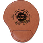 Logo & Tag Line Leatherette Mouse Pad with Wrist Support (Personalized)