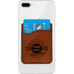 Logo & Tag Line Leatherette Phone Wallet (Personalized)