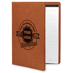 Logo & Tag Line Leatherette Portfolio with Notepad (Personalized)