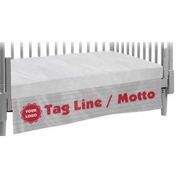 Logo & Tag Line Crib Skirt (Personalized)