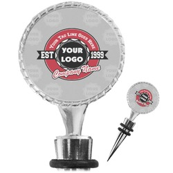 Logo & Tag Line Wine Bottle Stopper (Personalized)