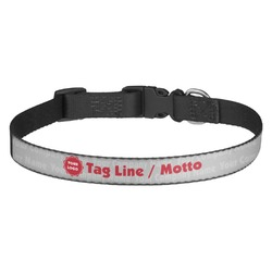 Logo & Tag Line Dog Collar - Multiple Sizes (Personalized)
