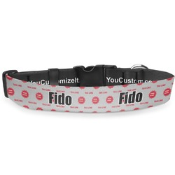"""Logo & Tag Line Deluxe Dog Collar - Extra Large (16"""" to 27"""") (Personalized)"""