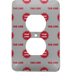 Logo & Tag Line Electric Outlet Plate (Personalized)