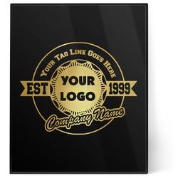 Logo & Tag Line 8x10 Foil Wall Art - Black (Personalized)