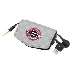 Logo & Tag Line Genuine Leather Cord Wrap (Personalized)